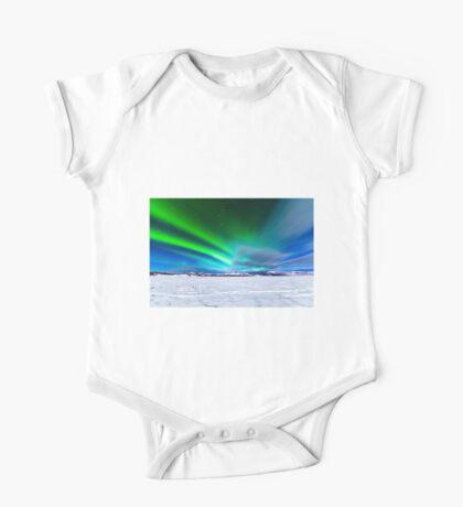 Intense display of Northern Lights Aurora borealis One Piece - Short Sleeve