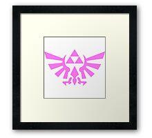 Triforce (Pink) Framed Print