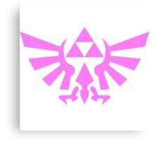 Triforce (Pink) Canvas Print