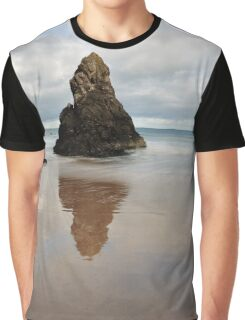 Sango Bay Beach Rock Reflection Graphic T-Shirt