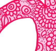 zentangle a: pink  Sticker