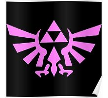 Triforce (Pink) Poster