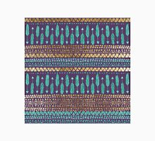 Gold Teal and Purple Arrows Tribal Aztec Pattern Women's Fitted V-Neck T-Shirt