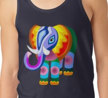 Elephant Rainbow Colors Patchwork Tank Top