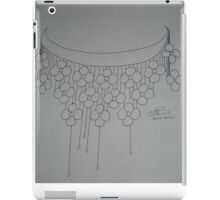 Flower necklace sketch -BW iPad Case/Skin