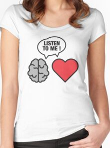 head vs. heart Women's Fitted Scoop T-Shirt