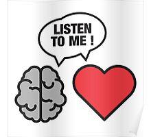 head vs. heart Poster