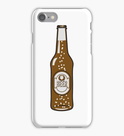 Beer drinking beer bottle iPhone Case/Skin