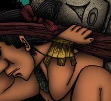 Mayan God Sticker
