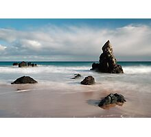 Rocky Beach on Sango Bay Photographic Print