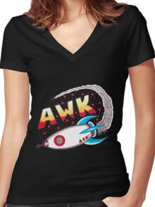 Space Ace Women's Fitted V-Neck T-Shirt