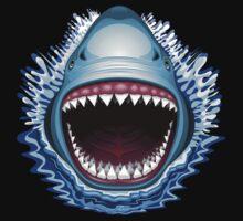 Shark Jaws Attack Kids Tee