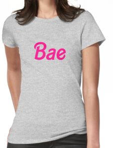 Bae barbie font Womens Fitted T-Shirt