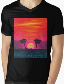 Retro sunset 2 Mens V-Neck T-Shirt
