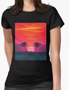 Retro sunset 2 Womens Fitted T-Shirt