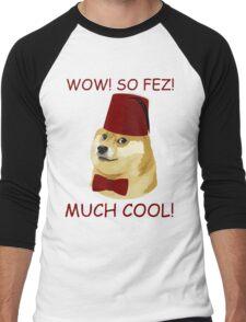 Funny Doge Meme - Parody - So Fez T Shirt Men's Baseball ¾ T-Shirt