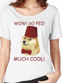 Funny Doge Meme - Parody - So Fez T Shirt Women's Relaxed Fit T-Shirt