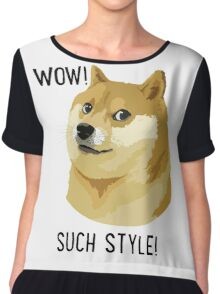 WOW! SUCH STYLE! Doge Meme T Shirts and More Chiffon Top