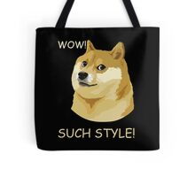 WOW! SUCH STYLE! Funny Doge Meme Shiba Inu T Shirt Tote Bag