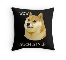 WOW! SUCH STYLE! Funny Doge Meme Shiba Inu T Shirt Throw Pillow