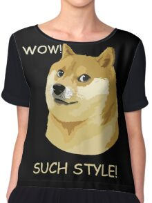 WOW! SUCH STYLE! Funny Doge Meme Shiba Inu T Shirt Chiffon Top