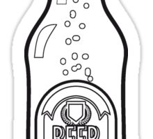 Beer drinking beer bottle Sticker