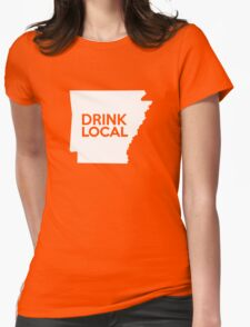 Arkansas Drink Local AR Womens Fitted T-Shirt