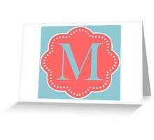 M Cloudy Greeting Card