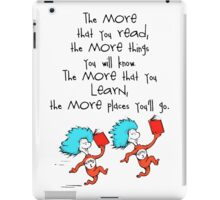 Thing Read Book Dr Seuss Quote iPad Case/Skin