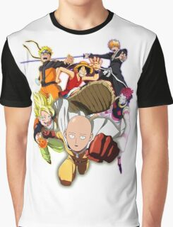 Composition anime Graphic T-Shirt