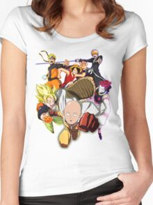 Composition anime Women's Fitted Scoop T-Shirt