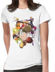 Composition anime Womens Fitted T-Shirt
