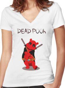 Funny Deadpooh Women's Fitted V-Neck T-Shirt
