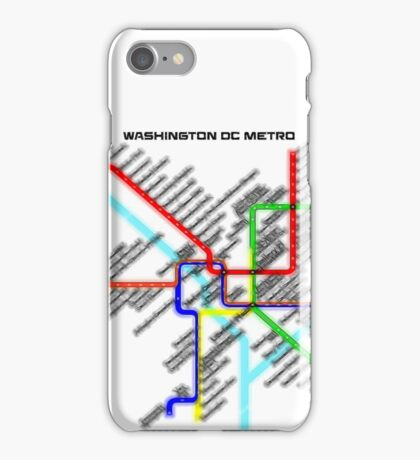 Washington DC Metro Map iPhone Case/Skin