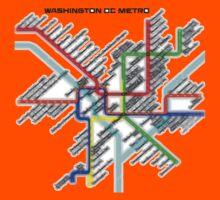 Washington DC Metro Map Kids Tee