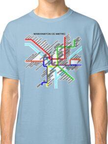 Washington DC Metro Map Classic T-Shirt