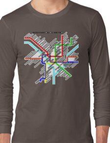Washington DC Metro Map Long Sleeve T-Shirt