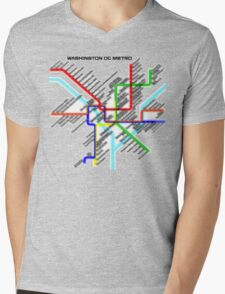 Washington DC Metro Map Mens V-Neck T-Shirt