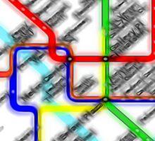 Washington DC Metro Map Sticker