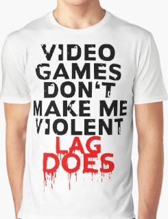 Videogames don't make me violent Graphic T-Shirt