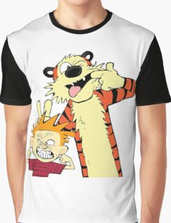 Calvin And Hobbes Fun Art Graphic T-Shirt