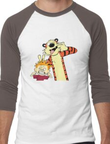 Calvin And Hobbes Fun Art Men's Baseball ¾ T-Shirt
