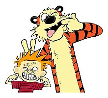 Calvin And Hobbes Fun Art Photographic Print