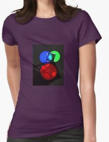 Crooked Disco  Womens Fitted T-Shirt