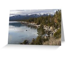 Tahoe Shoreline  Greeting Card