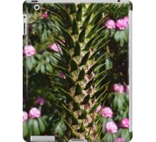 Monkey Puzzle and Pink Flowers iPad Case/Skin