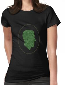 Lovecraft Silhouette Womens Fitted T-Shirt