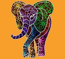 Elephant Floral Batik Art Design Unisex T-Shirt