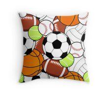 Sports Fan Pattern Throw Pillow