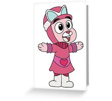 Anais - Wacky Racer Greeting Card